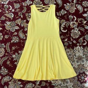Simple yellow summer dress